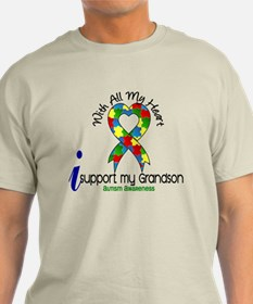 With All My Heart Autism T-Shirt