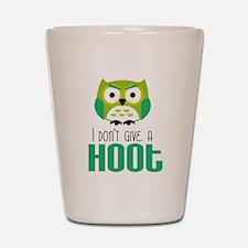 Angry owl Shot Glass