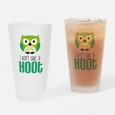 Angry owl Drinking Glass