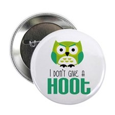 """Angry owl 2.25"""" Button"""