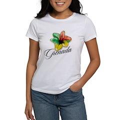 Grenada hibiscus Women's T-Shirt