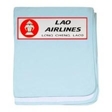 Lao Airlines baby blanket