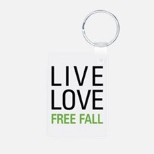 Live Love Free Fall Keychains