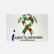 With All My Heart Autism Rectangle Magnet