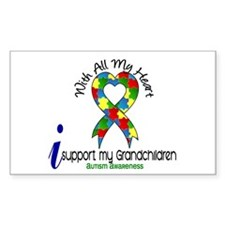 With All My Heart Autism Bumper Stickers