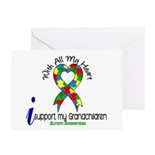 With All My Heart Autism Greeting Cards (Pk of 10)
