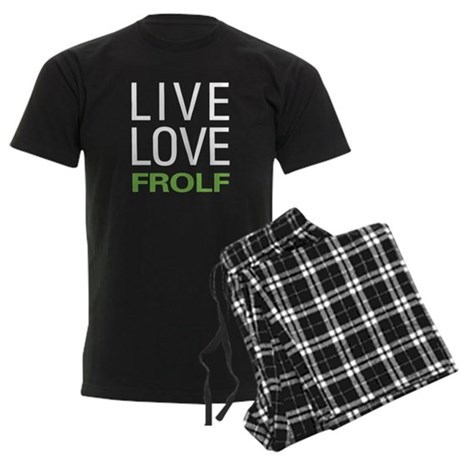 Live Love Frolf Men's Dark Pajamas