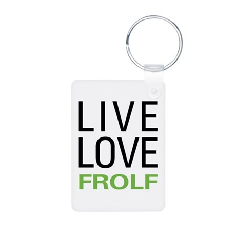 Live Love Frolf Aluminum Photo Keychain