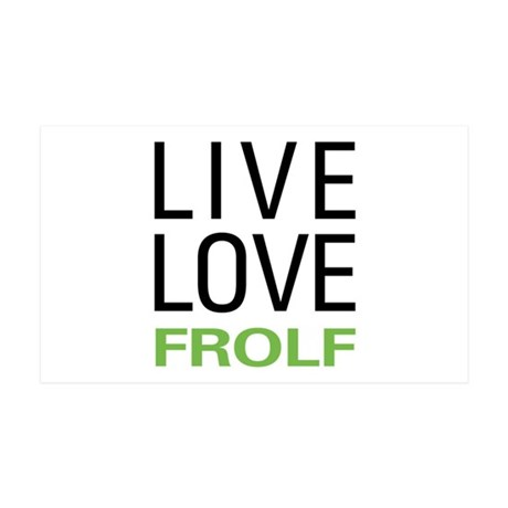 Live Love Frolf 35x21 Wall Decal