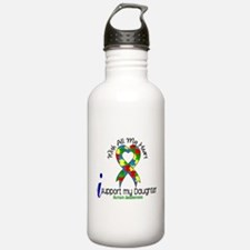 With All My Heart Autism Water Bottle