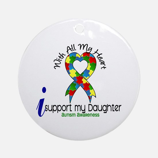 With All My Heart Autism Ornament (Round)