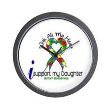With All My Heart Autism Wall Clock