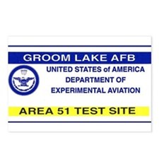 Area 51 Pass Postcards (Package of 8)