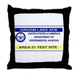 Area 51 Pass Throw Pillow
