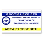 Area 51 Pass Sticker (Rectangle 10 pk)