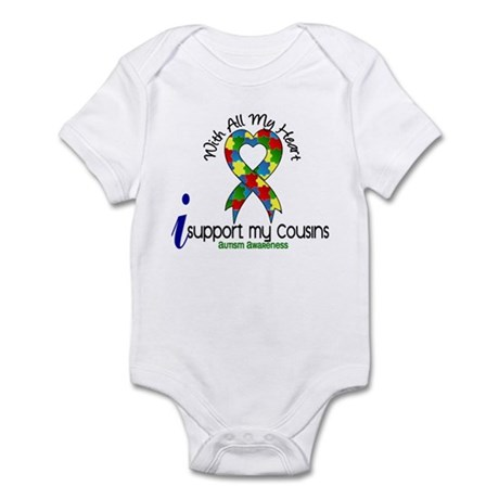 With All My Heart Autism Infant Bodysuit