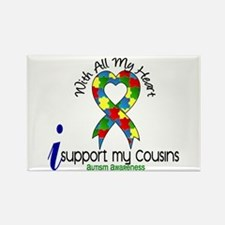 With All My Heart Autism Rectangle Magnet (10 pack
