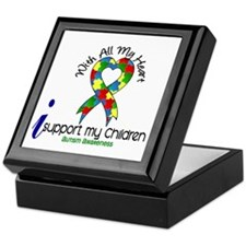 With All My Heart Autism Keepsake Box