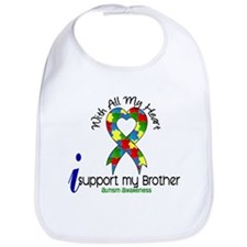 With All My Heart Autism Bib