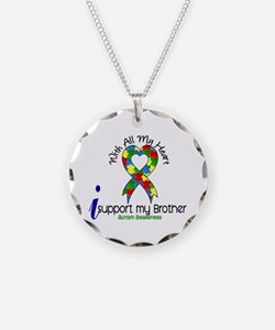 With All My Heart Autism Necklace