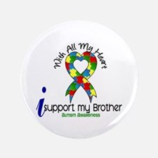 "With All My Heart Autism 3.5"" Button"