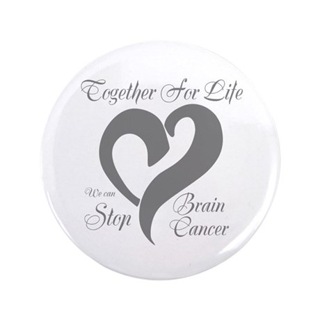"""Stop Brain Cancer 3.5"""" Button (100 pack)"""