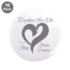 """Stop Brain Cancer 3.5"""" Button (10 pack)"""