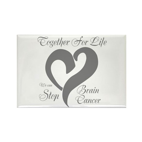 Stop Brain Cancer Rectangle Magnet