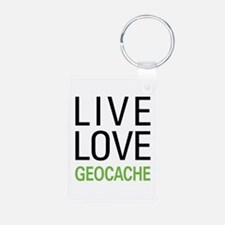 Live Love Geocache Keychains