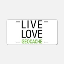 Live Love Geocache Aluminum License Plate