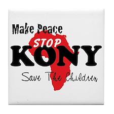 Stop Kony 2012 Tile Coaster
