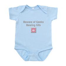 Geeks Bearing Gifs (silver) Infant Bodysuit