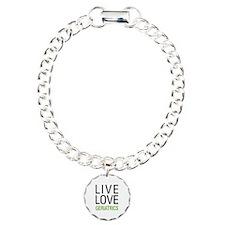 Live Love Geriatrics Charm Bracelet, One Charm