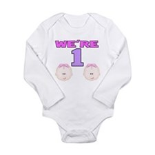 Unique Birthday twins Long Sleeve Infant Bodysuit