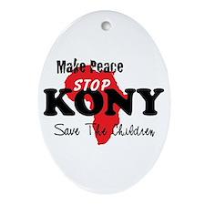 Stop Kony 2012 Ornament (Oval)