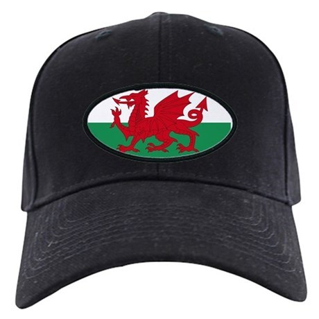 Welsh Red Dragon Black Cap