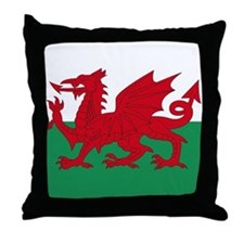 Welsh Red Dragon Throw Pillow
