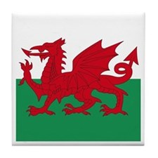 Welsh Red Dragon Tile Coaster