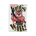 Hogs of War Rectangle Magnet (100 pack)