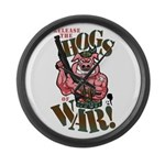 Hogs of War Large Wall Clock