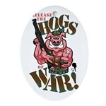 Hogs of War Ornament (Oval)
