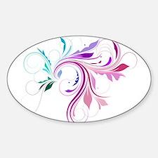 Colorful flourish Sticker (Oval)