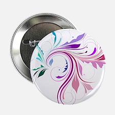 """Colorful flourish 2.25"""" Button"""