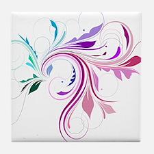 Colorful flourish Tile Coaster