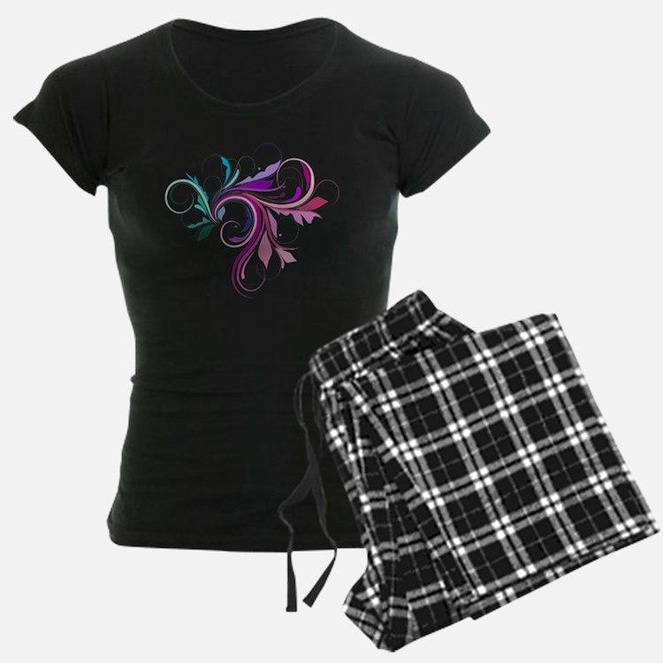 Colorful flourish pajamas
