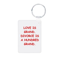 divorce joke Keychains