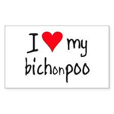 I LOVE MY Bichonpoo Decal