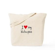 I LOVE MY Bichonpoo Tote Bag