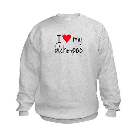 I LOVE MY Bichonpoo Kids Sweatshirt