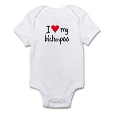 I LOVE MY Bichonpoo Infant Bodysuit